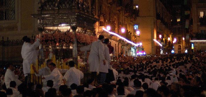 Un momento della Festa di S. Agata a Catania